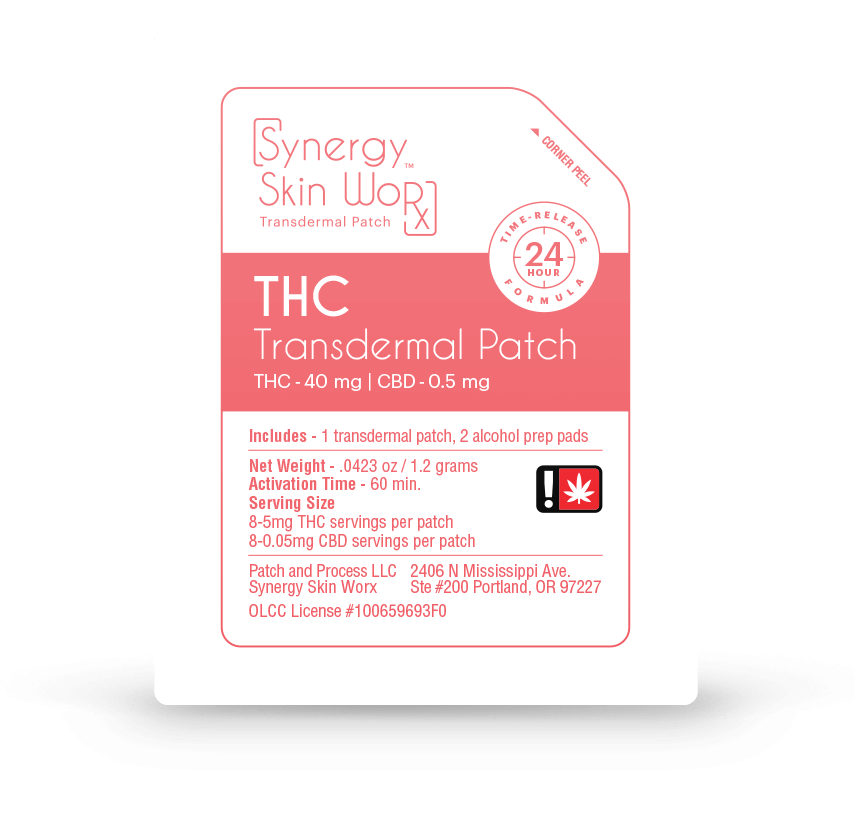 Synergy Skin Worx™ THC Patch