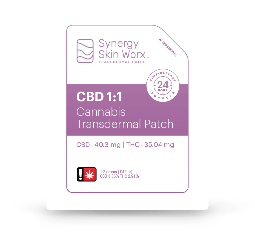 Synergy Skin Worx 1:1 Cannabis Transdermal Patch